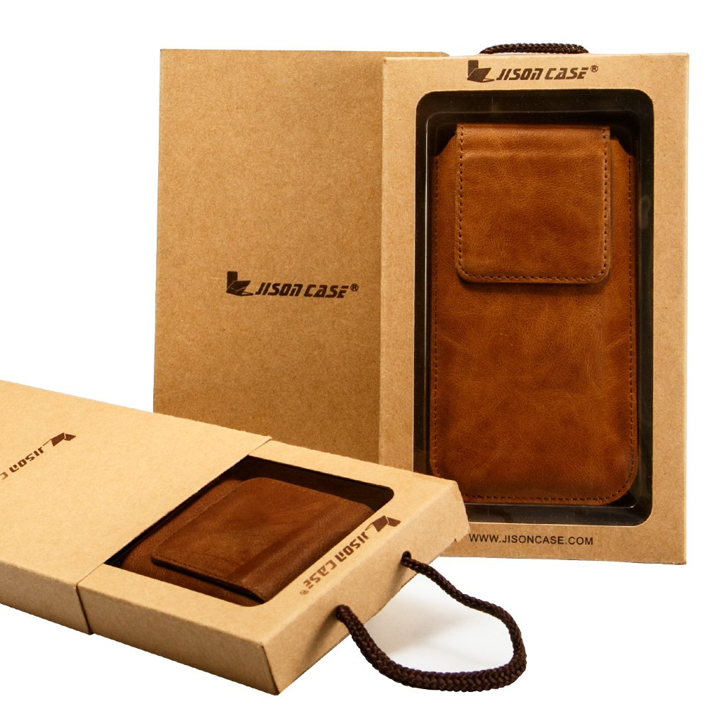 iPhone X Leather Case Sleeve TOOVREN Genuine Leather Protective Ultra Rugged Holster Phone Pouch Carrying Bag for Apple iPhone X/10 (2017) Brown by TOOVREN (Image #7)