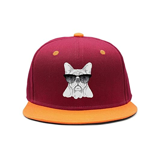 e7c9863f08d Funny Big Dogs Pugs Sunglasses Art Hip-hop Flat Bill Snapback Hats for  Womens and