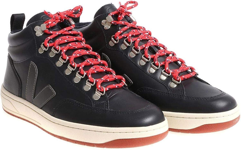 Veja Luxury Fashion Mens HI TOP Sneakers Summer Black