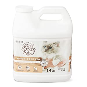 Special Kitty Scoopable Tight Clumping Cat Litter, Fragrance Free, 14 lb - Pack of 2