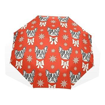 GUKENQ Paraguas de Viaje Ligero y antiUV para Hombres, Mujeres y niños, Paraguas Plegable