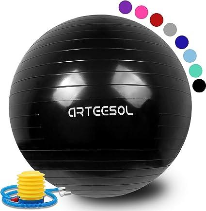 arteesol - Pelota de gimnasia para pilates (45 cm/55 cm/65 cm/75 ...