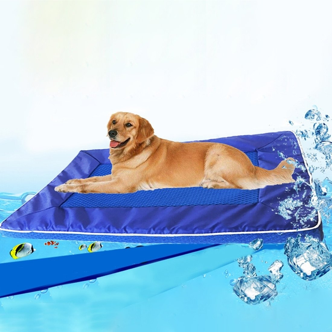 HHF Pet Supplies Bed House Summer Dog Pad Pet Cool Down Pad Detachable Dog Mat Cushion, Small Size 28  44  4cm