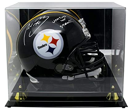 58451e9e9 Alejandro Villanueva Signed Helmet - FS Replica Insc w Acrylic Case SI -  Beckett Authentication -