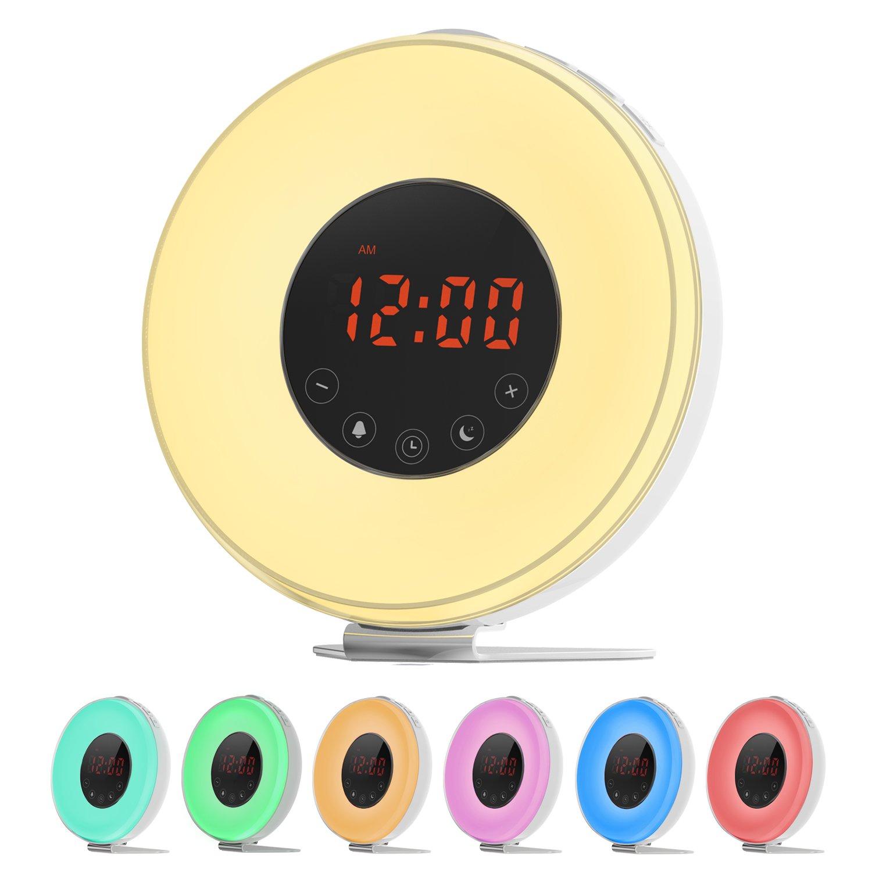 LOBKIN Luz Despertador despertador con Luz que simula el amanecer Lámpara de
