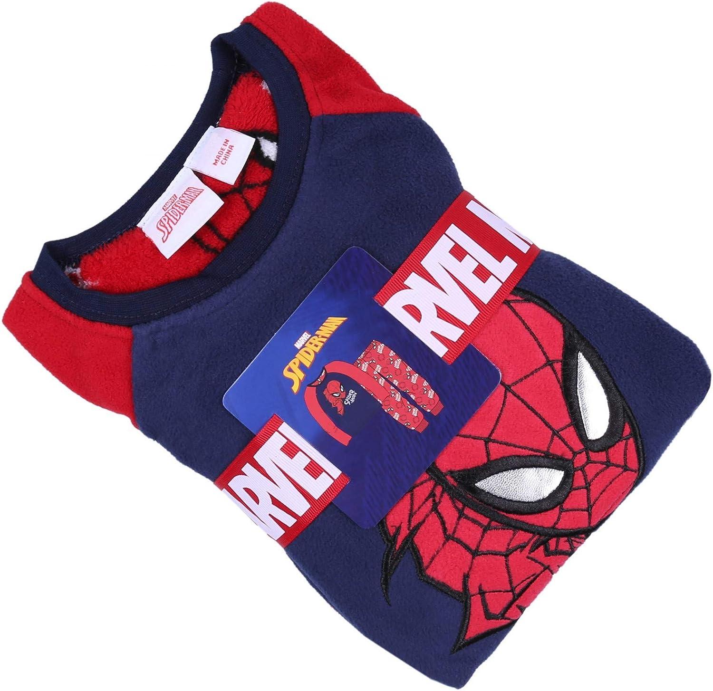 Pyjama en Molleton Spider-Man Rouge-Bleu Marine