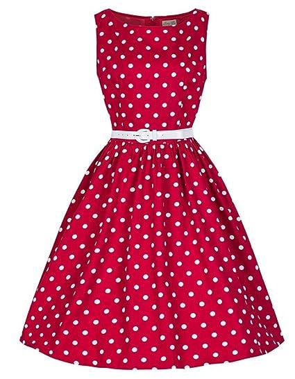 Women Summer Dress Polka Dot Retro Vintage 50S 60S Casual Party ...