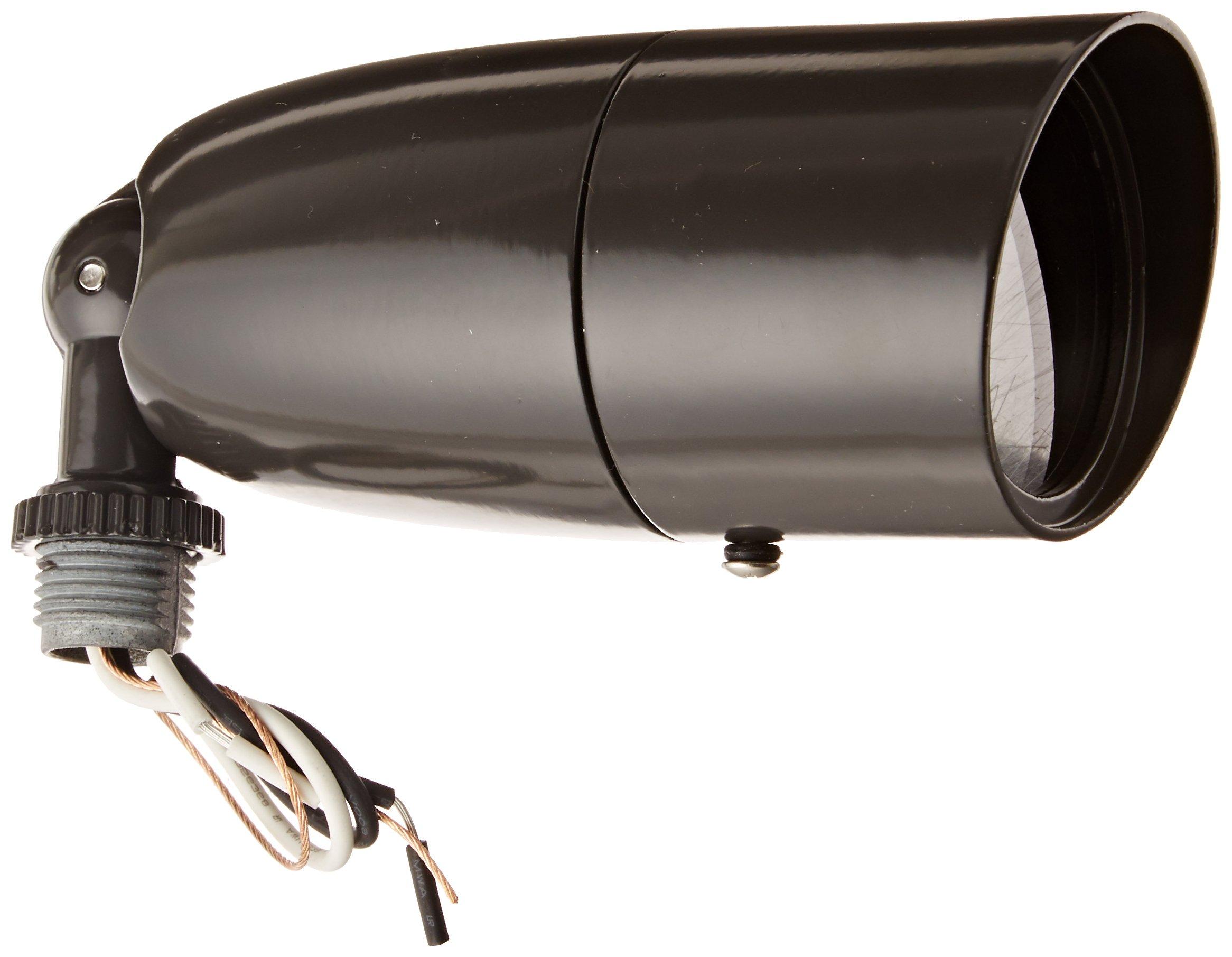 RAB Lighting LFP16A Sleek Floodlight, PAR16 Type, Aluminum, 60W Power, 650 Lumens, 120V, Bronze Color