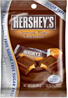 Hersheys Sugar Free Chocolate with Caramel Candy, 3-Ounce Bag (Pack of 3
