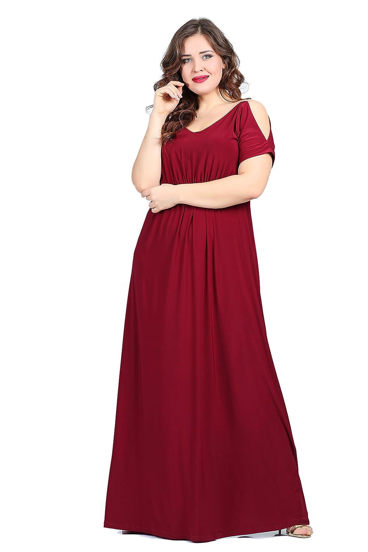 Damen Designer Empire Abendkleid Lang MAXI auch Große Größen, Kleid ...