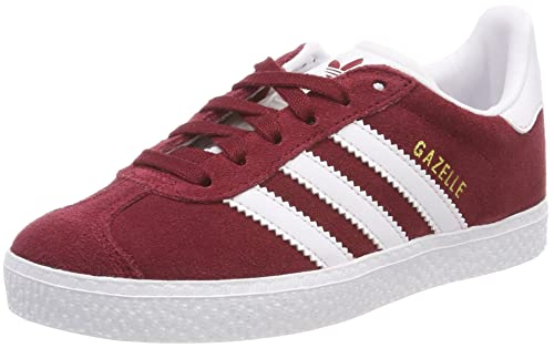 adidas Youth Gazelle Collegiate Burgundy Footwear White Suede Trainers 4.5 US