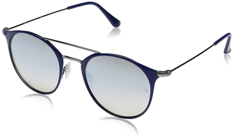 9433edf258 Ray-Ban Steel Unisex Round Sunglasses