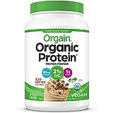 Orgain Organic Plant Based Protein Powder, Iced Coffee - 60mg of Caffeine, Vegan, Low Net Carbs, Non Dairy, Gluten Free, No S