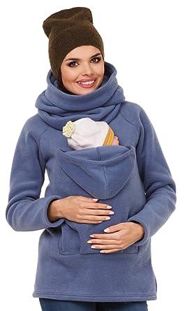 Zeta Ville - Maternité Pull molletonné bébé écharpe de Portage - Femme -  030c (Bleu 81a63852c60