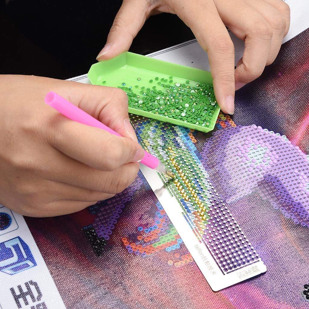 Diamond Drawing Ruler Dot Drill Tool Magic Tool Diamond Embroidery Mesh Ruler Stainless Steel Ruler Tool Euone Grid Ruler