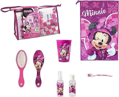 Juego Higiene Escolar Viaje Minnie Beauty Case niña de viaje cepillo, vaso, cepillo dientes, toalla Kit Higiene Personal niño niña Disney: Amazon.es: Bebé