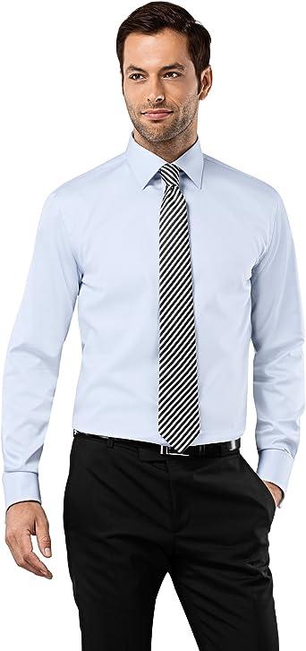 VB camisa para hombre ajuste Regular, Doble Puño Uni Non Iron azul ice-blue 41, 91 cm: Amazon.es: Ropa y accesorios