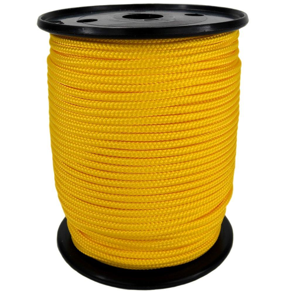 PP Seil Polypropylenseil SH 10mm 100m Farbe Kanariengelb (0120) Geflochten
