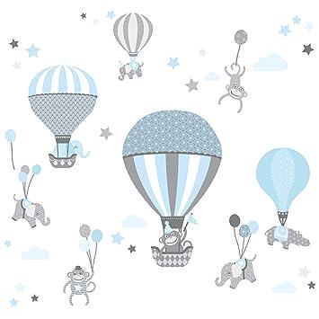 Hervorragend Anna Wand Wandsticker HOT AIR BALLOONS HELLBLAU/GRAU   Wandtattoo Für  Kinderzimmer / Babyzimmer Mit
