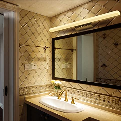 Amazon.com: Stainless Steel LED Mirror Lamp Waterproof Anti-fog ...