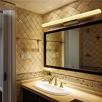 Hochwertige Edelstahl LED Spiegel Lampe Wasserdicht AntiFog - Badezimmer spiegellampe