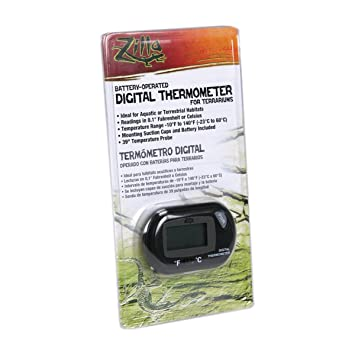 Digital Thermometer Measures Air or Water Temperature