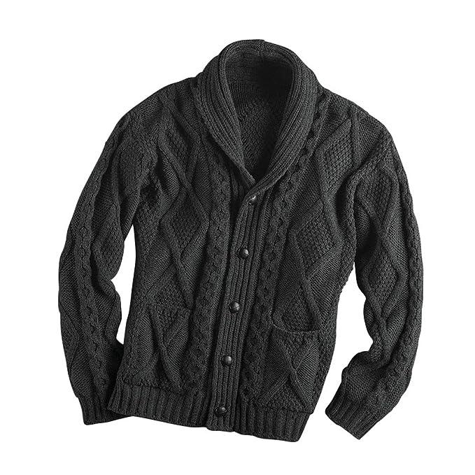 Amazon.com: West End Knitwear Aran Shawl - Chaqueta de punto ...