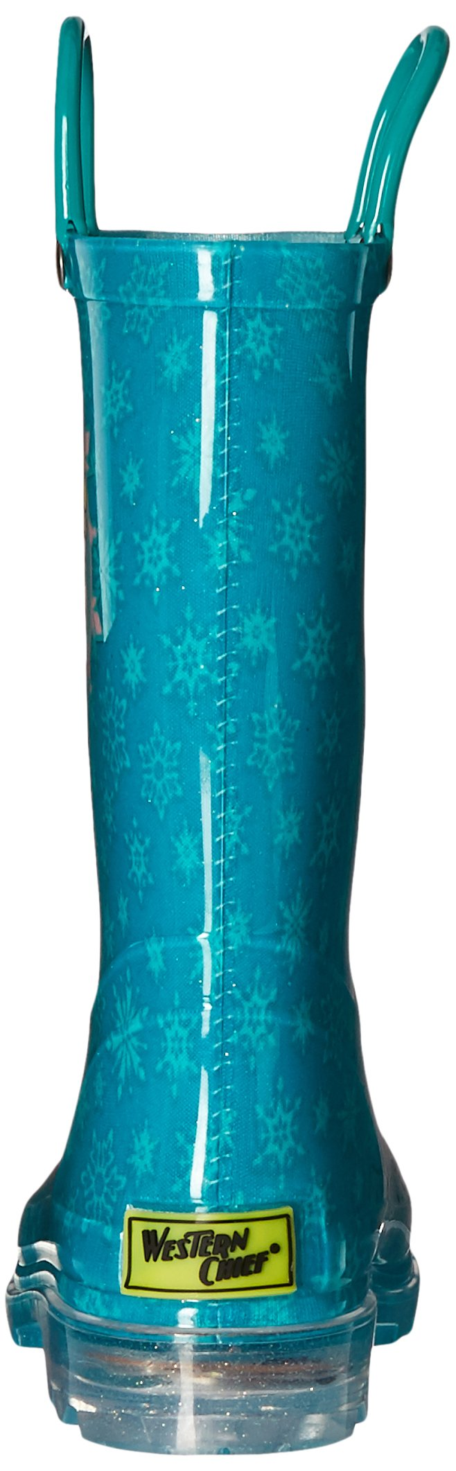 Western Chief Kids Girls' Waterproof Rain Boots That Light up with Each Step, Frozen Elsa and and, 13 M US Little Kid by Western Chief (Image #2)