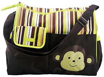 designer baby boy diaper bags eqe9  Diaper Tote Bag Green w/ Changing Mat Premium Designer Baby Diapers Bag for  Girls Boys