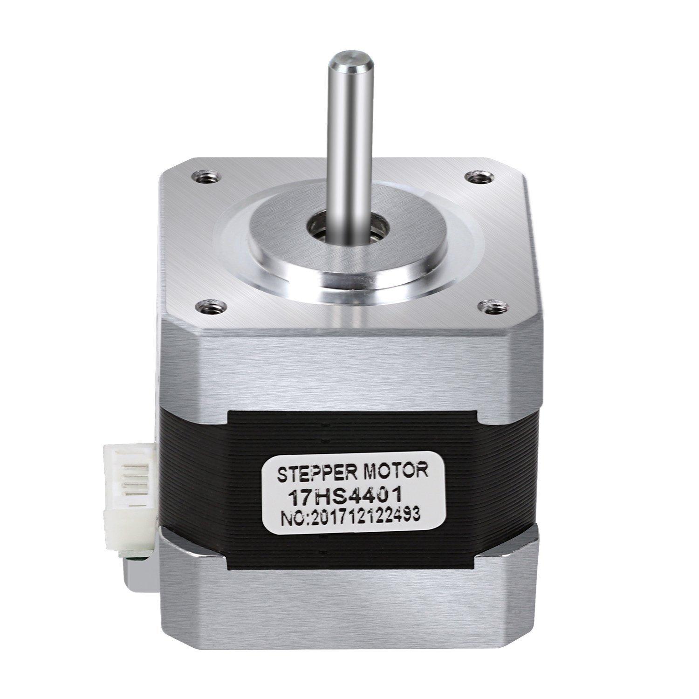 Stepper Motor Nema 17, Nema 17 Stepper Motor 4-lead 1.8 Deg 40N.cm Holding Torque 1.7A 42 Motor for 3D Printer Hobby CNC Router XYZ By Beauty Star