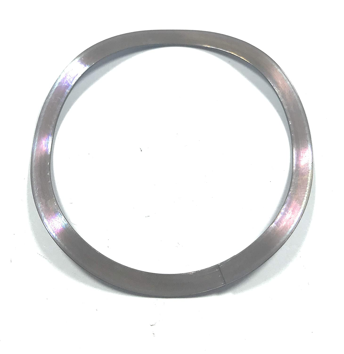 Stainless Steel 17 7PH Wave Washer with Overlap 4 Waves SSB 0244 Metrics 51.69mmID 62mmOD 0.61mm Thickness 4.32mm Free Height 169.1N@2.36mm 85N mm Spring Rate Pack of 10