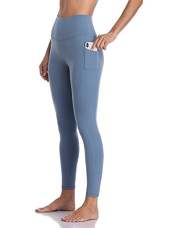 0b9241e25e75e Colorfulkoala Women's High Waisted Yoga Pants 7/8 Length Leggings with  Pockets