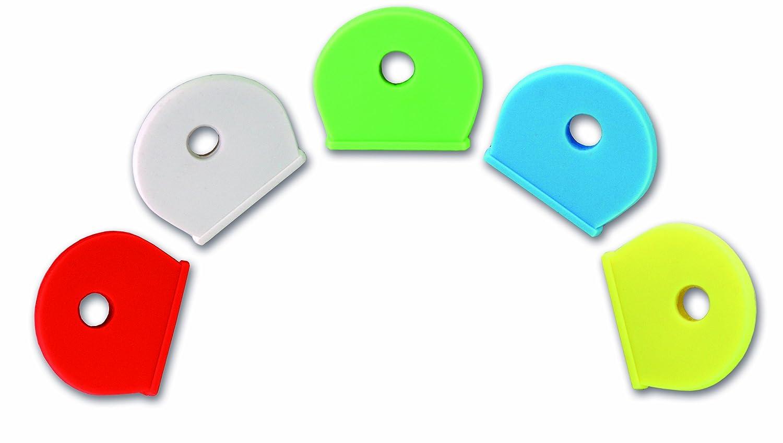Chapuis TECLE1 Confezione di 5 copri-chiave in PVC - Colori assortiti - Larghezza interna di 17 mm