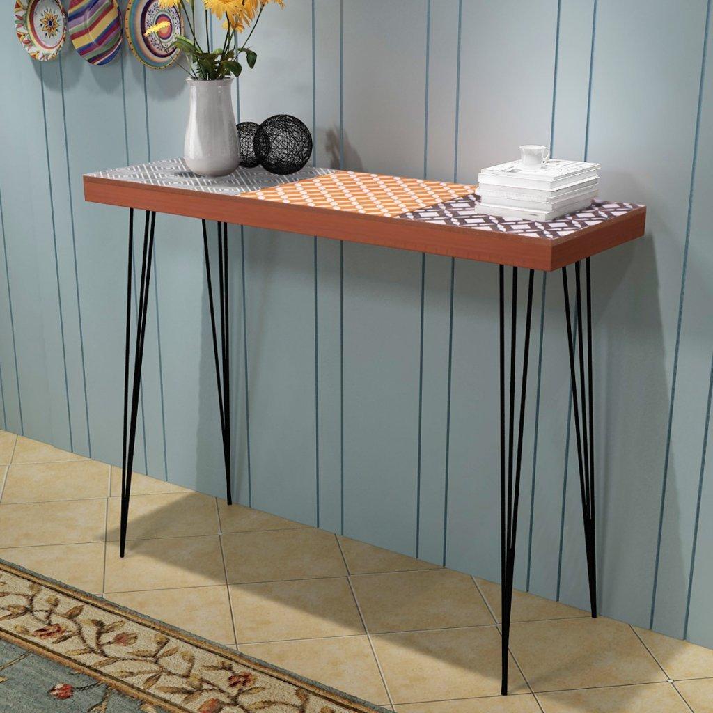 Festnight Table Console Table de Chevet en Bois 90 X 30 X 71,5 CM