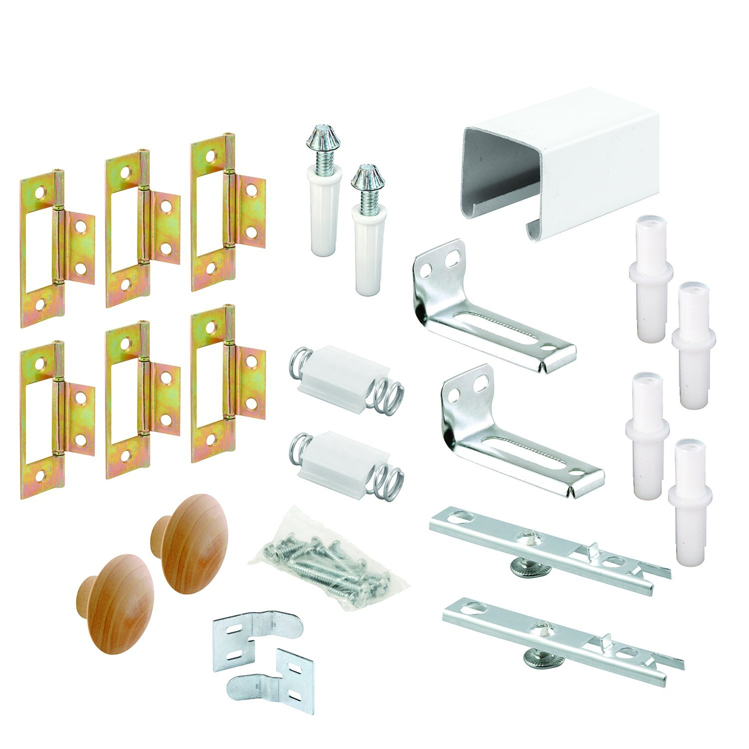 Prime-Line Products 164688 Bi-Fold Closet Track Kit, 60-Inch, 4 Door Hardware-Pack
