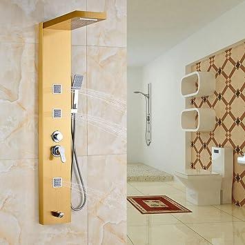 Tw Panel de ducha montado en la pared grifo de lluvia Cascada 3 ...