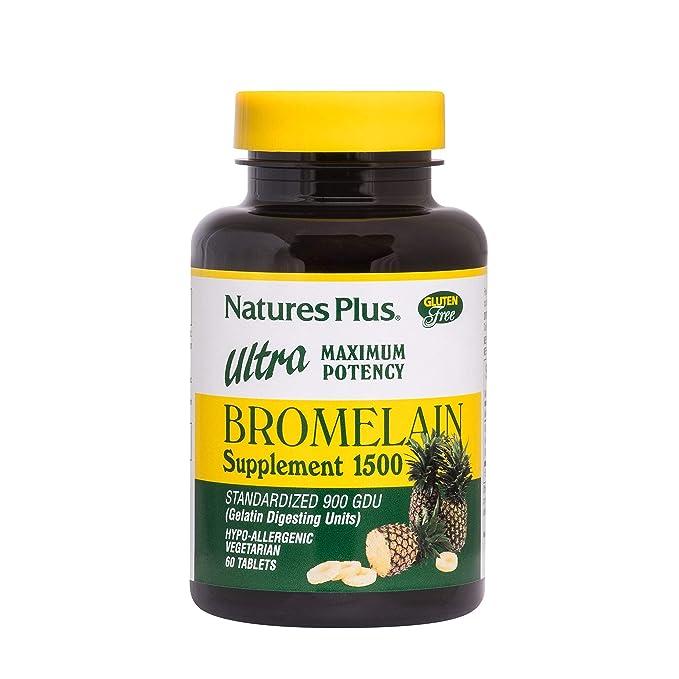Suplemento bromelina 1500, Ultra Potencia Máxima, 60 ...