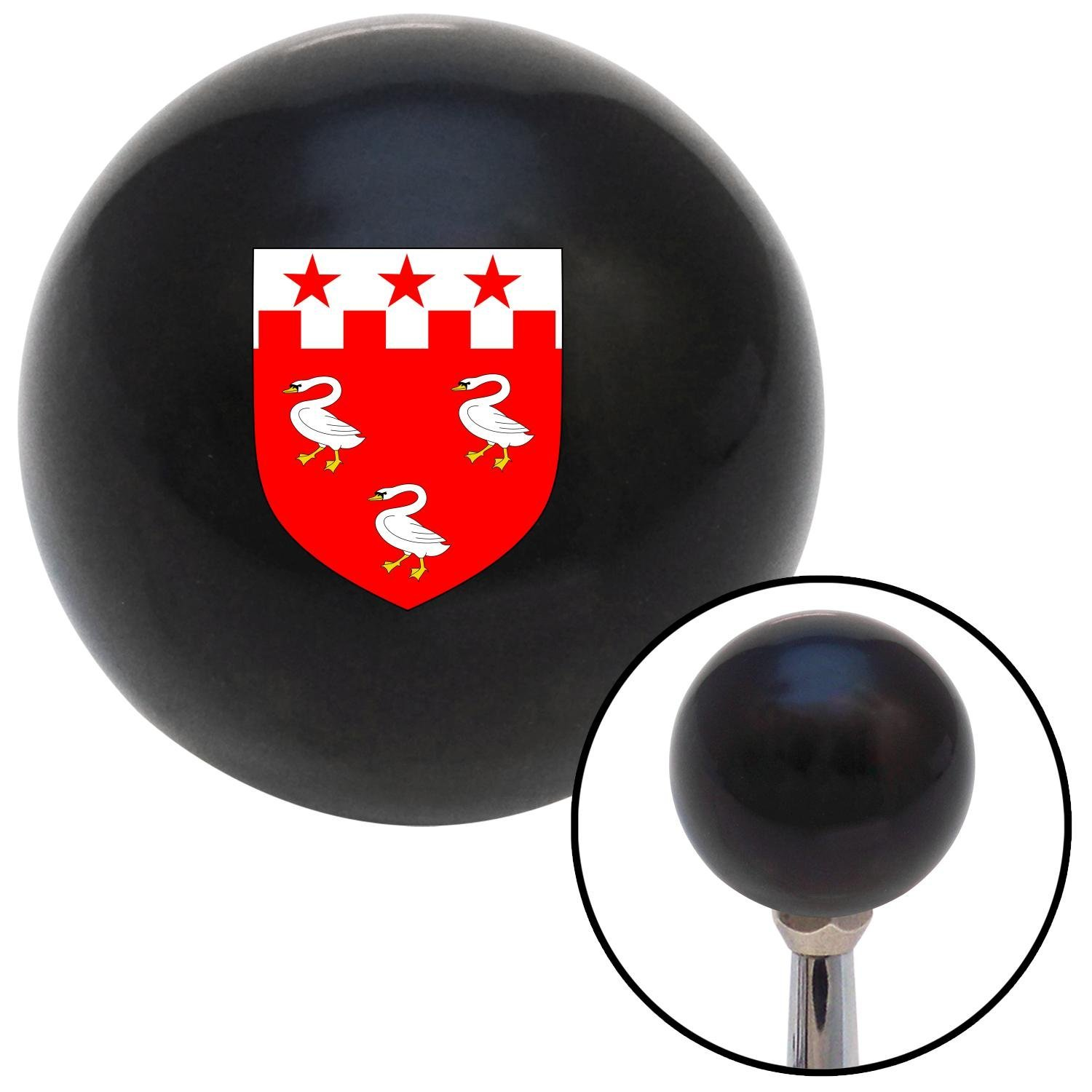 Patterson Coat of Arms American Shifter 105464 Black Shift Knob with M16 x 1.5 Insert