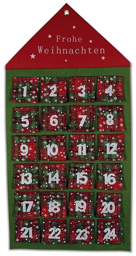 Calendario Dellavvento In Feltro.Riffel Orologiaio Calendario Dell Avvento Casa Feltro Rosso