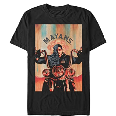61143e82 Fifth Sun Mayans M.C. Men's EZ Biker Watercolor Poster T-Shirt ...