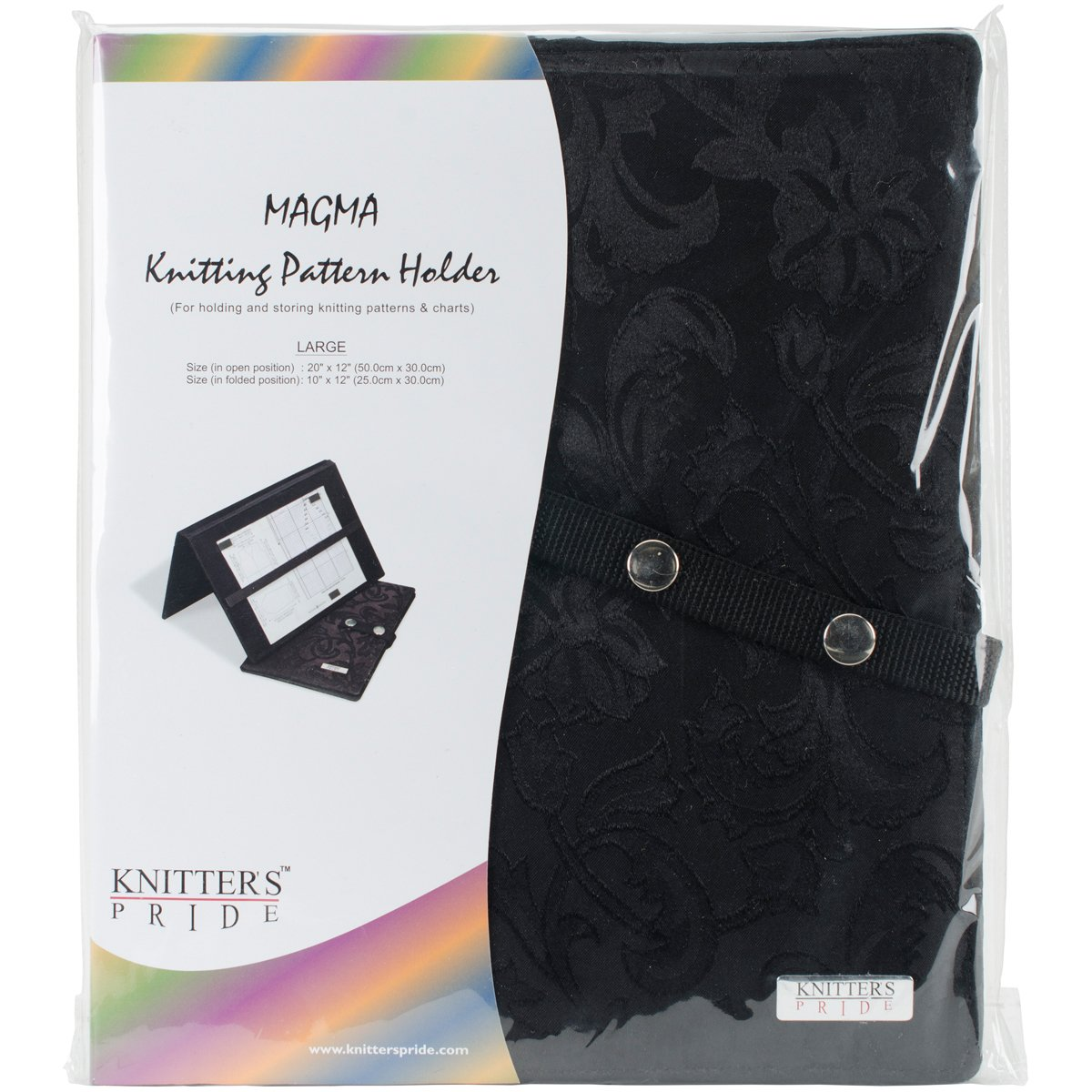 Knitter's Pride Magma Knitting Fold-Up Pattern Holder, 19.65 X 11.81-Inches