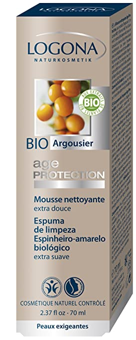 Age Protection Cleansing Foam Logona 70 ml Liquid Yes To Blueberries Smoothing Cleanser, 4.5 Ounce + Curad Dazzle Bandages 25 Ct