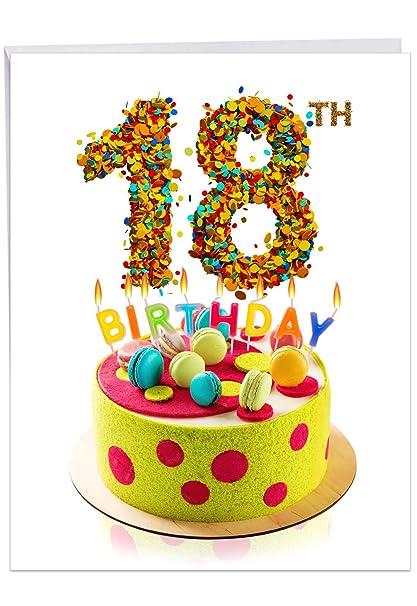 J7060BMBG Tarjeta de cumpleaños con diseño de hito grande ...
