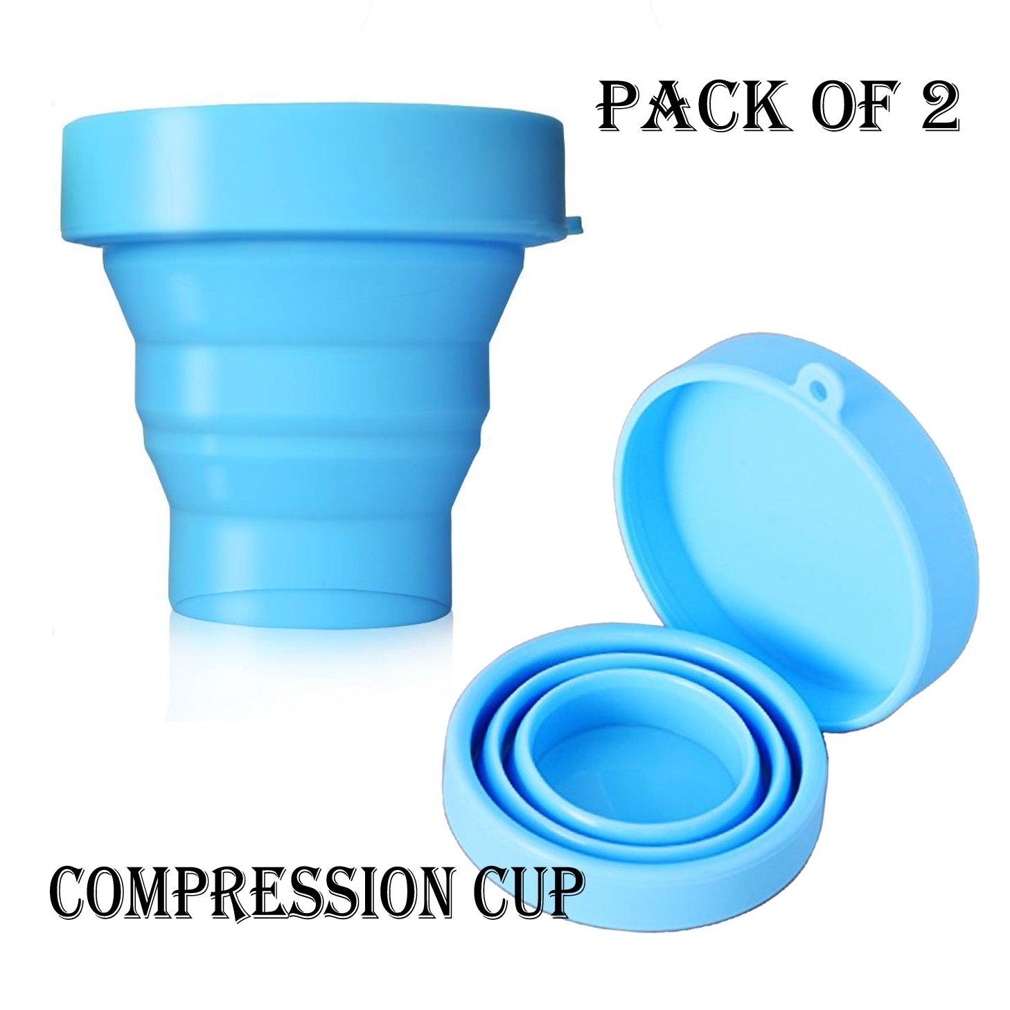 ポータブルシリコン折りたたみ可能なカップキャンプカップ170 ml旅行ハイキング、キャンプ、ピクニック、ホーム飲料水、コーヒー、お茶2個のパック B07C2QWS3Y