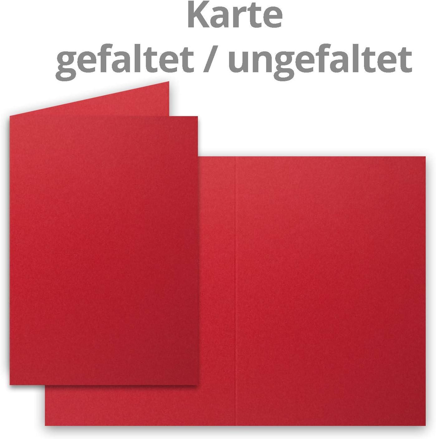 Paquete de tarjetas grande mate blanco 25 Sets DIN B6-12 x 17 cm con tarjetas plegables hojas blancas a juego y sobres forrados 120 x 170 mm color 10