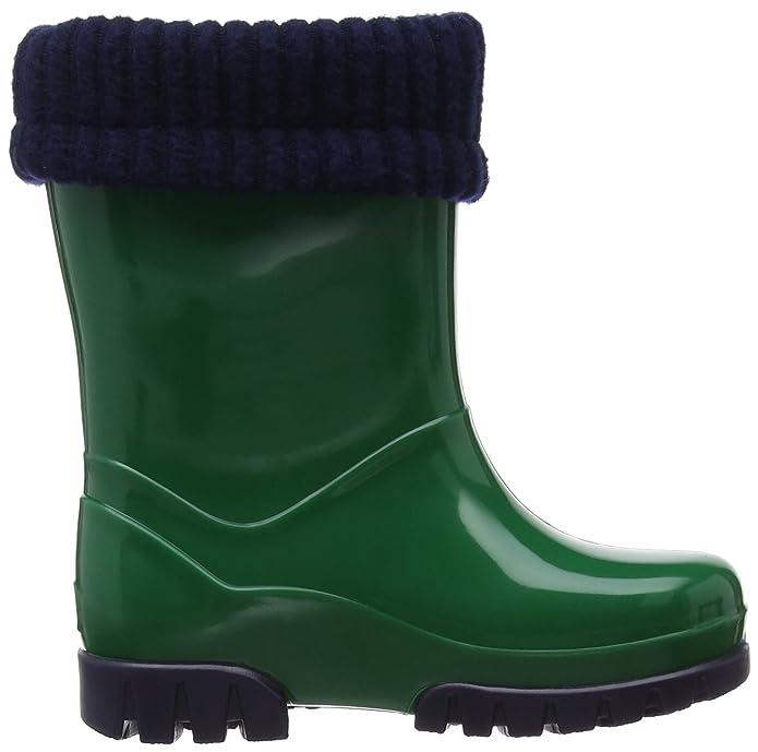 Toughees Roll Top Welly, Unisex-Kinder Stiefel, Grün (Green/Navy), 34-35 EU