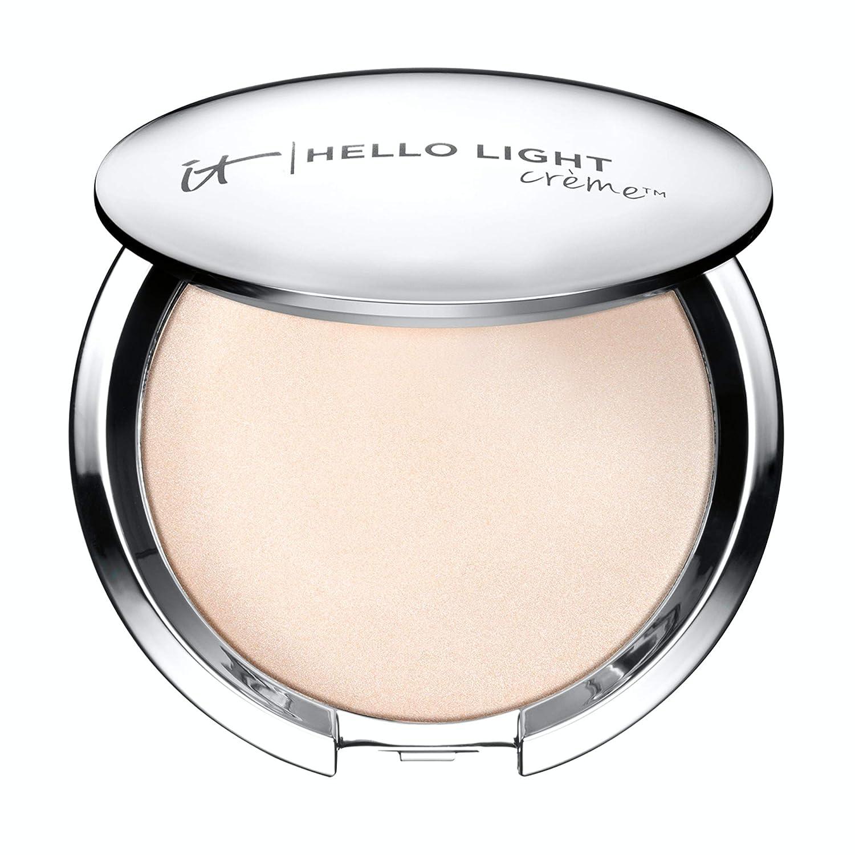 IT Cosmetics Hello Light Creme Luminizer - Anti-Aging Highlighter - Brightens, Hydrates & Awakens Skin - With Silk, Hydrolyzed Collagen, Peptides & Antioxidants - 0.23 oz