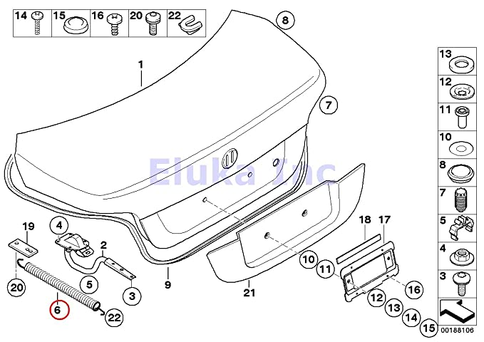 Amazon Com Bmw Genuine Trunk Lid Trunk Shock With Spring Right 525i
