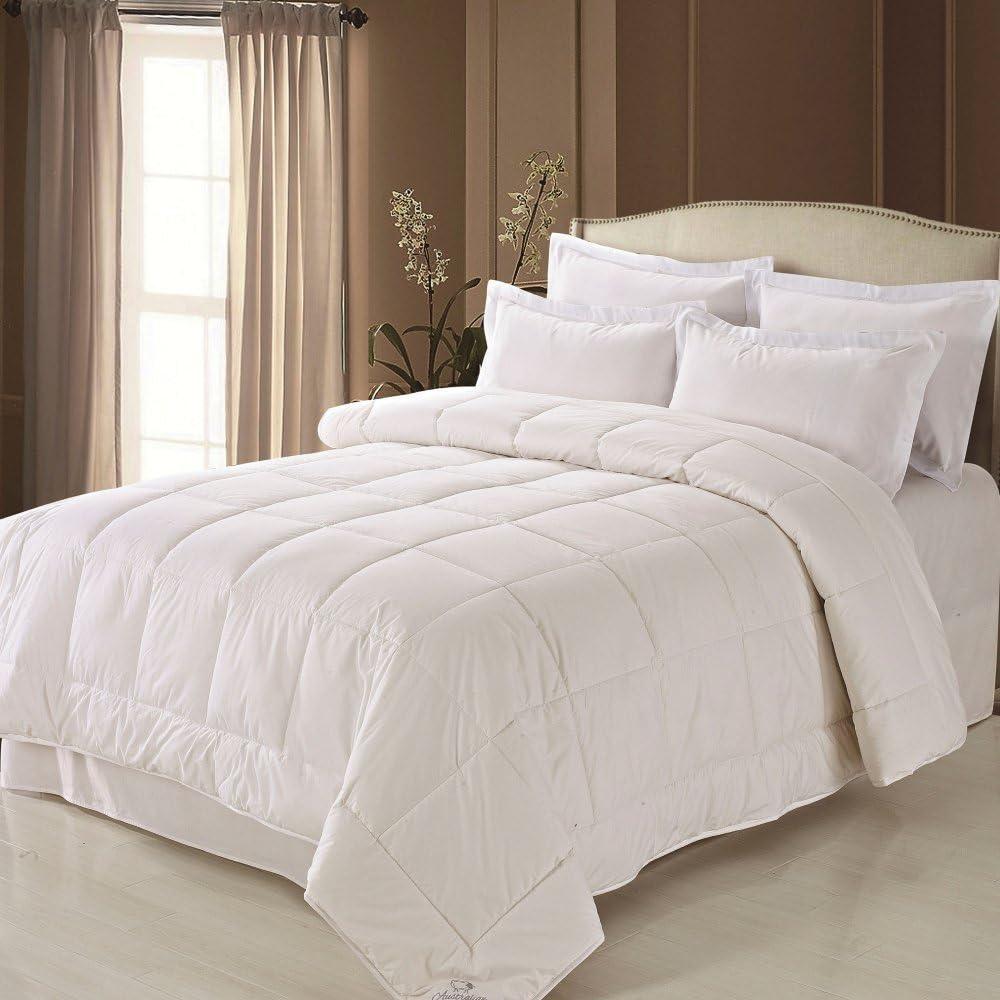 Fresh Ideas Australian Wool Filled Cotton Comforter, Hypoallergenic Bedding, King