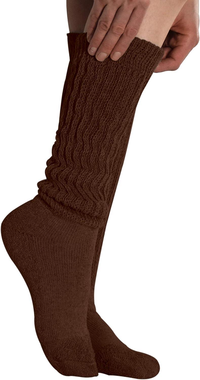 Extra Heavy Black Womens Slouch Socks 12 Pair Extra Long